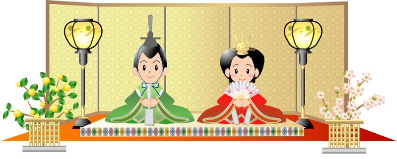 雛祭りのイラスト・カットです ... : 子供 年賀状 デザイン : 子供