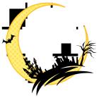 月とコウモリと館と墓場