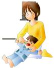 ママと男の子歯磨き