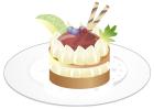 ケーキお皿影なし