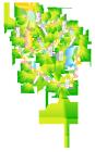 七夕の笹の葉飾り