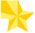 七夕飾り黄色の星