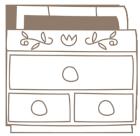 ソーイングカット裁縫箱1線画