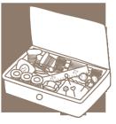 ソーイングカット裁縫箱2線画