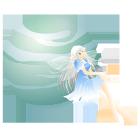 妖精と星線なし青緑系