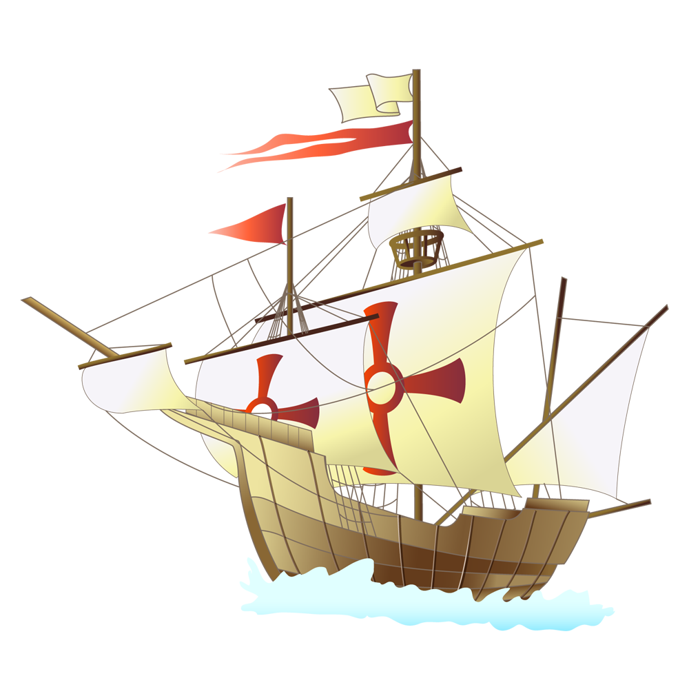 帆船と大陸 | 夢夢色TOWN