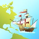 大陸と帆船a