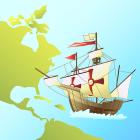 大陸と帆船b