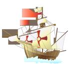 大陸と帆船d