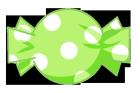 キャンディ素材水玉緑