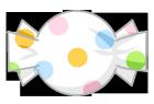 キャンディ素材水玉白