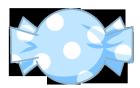 キャンディ素材水玉青1