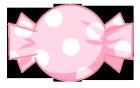 キャンディ素材水玉ピンク1