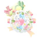 プレゼントと花束素材PNG透過