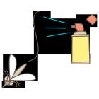 蚊と殺虫剤