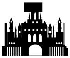 シルエットお城