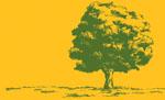 樹と大地のイラストCMYK印刷向け