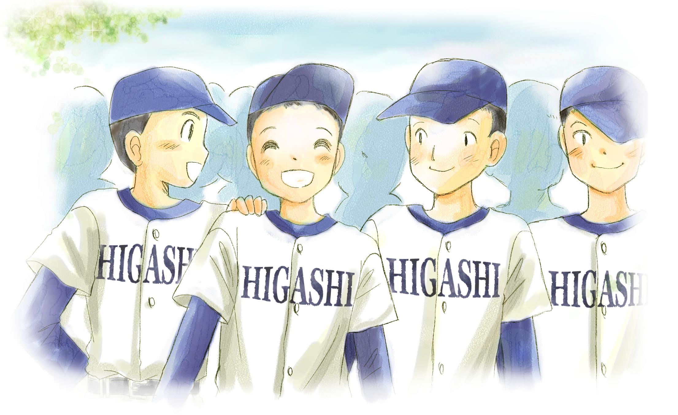 野球関係イラストのフリー素材 ... : 年賀状デザイン子供向け : 子供