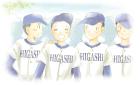 野球関係イラストのフリー素材水彩風淡い
