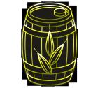ビールなイメージのラベル用イラストビア樽3