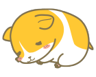 ハムスターのキャラクターイラストお昼寝中2