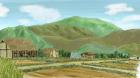 村の風景手描き手塗りアナログ風1