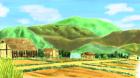 村の風景手描き手塗りアナログ風3