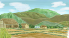 村の風景手描き手塗りアナログ風4