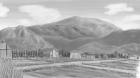 村の風景手描き手塗りアナログ風5