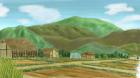 村の風景手描き手塗りアナログ風0