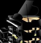 グランドピアノイラスト素材1