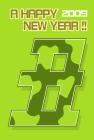 2009年丑の年賀状テンプレートフリー素材2b