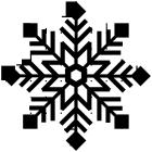 雪の結晶ブラシのフリー素材1