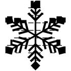 雪の結晶ブラシのフリー素材2