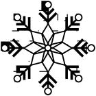 雪の結晶ブラシのフリー素材3