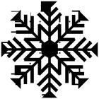 雪の結晶ブラシのフリー素材4