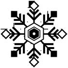 雪の結晶ブラシのフリー素材5