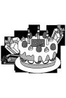 白黒イラスト0904お誕生日ケーキ