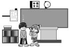 白黒イラスト0904教室掃除当番