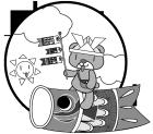 白黒イラスト0904こどもの日鯉のぼりとクマさん