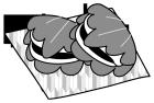 白黒イラスト0904こどもの日柏餅