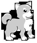 白黒イラスト0904犬