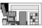白黒イラスト0904お店のイラスト本屋