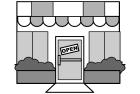 白黒イラスト0904お店のイラストレストラン?
