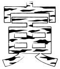 2010年寅年賀状イラスト寅の模様文字1