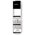 白黒素材印刷向け携帯電話線画1