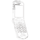 白黒素材印刷向け携帯電話線画2