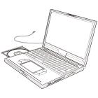 白黒素材印刷向けノートパソコン線画1
