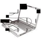 白黒素材印刷向けノートパソコン線画2