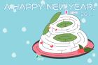 2011年卯(うさぎ)年用年賀状迷路版